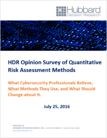 HDR Opinion Survey of Quantitative Risk Assessment Methods